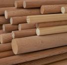 Tyč dřevěná rýhovaná 8 x 500 mm