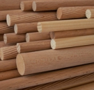 Tyč dřevěná rýhovaná 10 x 500 mm