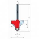 Stopková fréza zaoblovací vydutá s ložiskem R2 Freud - stopka 8 mm