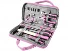 Růžová sada nářadí pro ženy 39 kusů Extol Craft 6596