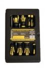 Sada šroubováků a bitů 28-dílná v kufru Proteco 10.07-990-08