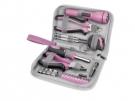 Růžová sada nářadí pro ženy 23 kusů Extol Craft 6595